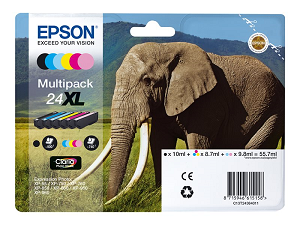 Tinteiro EPSON nº 24XL (Multipack 6-colours) T2438