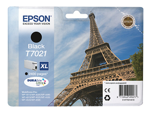 "Tinteiro EPSON WorkForce Pro XL T7021 (2.4Kpág@5%) ""Black"""