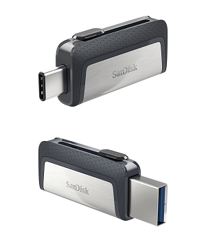 USB Flash Disk SANDISK Ultra Dual Drive (USB-A«»USB-C) 64Gb
