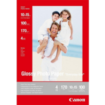 Papel CANON Glossy Photo 10x15 100Fls 170gr GP-501