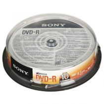 DVD Gravavel SONY -R 16x 4.7Gb 120Min Spindle10