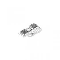 OLIRACK Kit de ventilação c/ 2 ventiladores e termostato.
