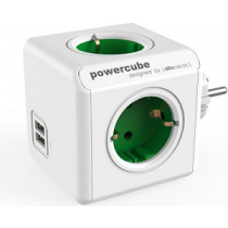 "ALLOCACOC PowerCube Original USB 4xSchuko+2xUSB ""Green"""
