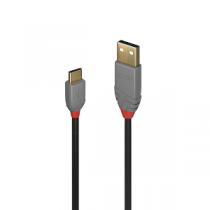 "Cabo LINDY Type-C USB2.0«»USB (C-M«»A-M) 1.0mts ""Black"""