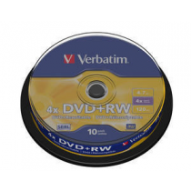 DVD Regravavel VERBATIM +RW 4x 4.7Gb 120Min Spindle10