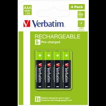 Pilhas VERBATIM Recarregaveis AAA 1,2V 950mAh (4 unidades)