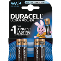 Pilhas DURACELL Alcalinas AAA 1,5V-LR03 (4 unidades)