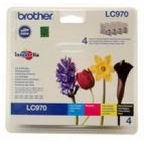 Tinteiro BROTHER (Pack 4 LC970BK/C/M/Y) LC970VALBP