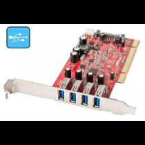 Placa LINDY PCI 4-Port USB3.0