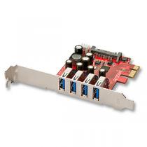Placa LINDY PCI-E 4-Port USB3.0
