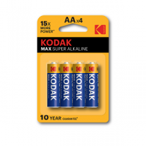 Pilhas KODAK Alcalinas AA 1,5V-LR6 (4 unidades)