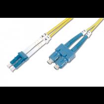 Cabo DIGITUS Fibra LC-SC OS2 Singlemode 9/125 Duplex 1.0Mts