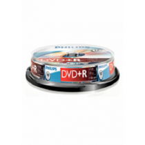 DVD Gravavel PHILIPS +R 16x 4.7Gb 120Min Spindle10