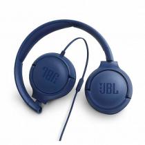 """Headset JBL T500 Wired on-ear Headphones + Mic """"Blue"""""""