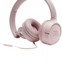 "Headset JBL T500 Wired on-ear Headphones + Mic ""Pink"""