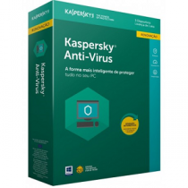 KASPERSKY Anti-Virus (1 ano - 3 PCs)