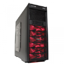 Caixa MidiTower NOX Coolbay VX Red Devil