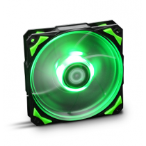 "Cooler para Caixas NOX Hummer H-FAN LED 120x120x25mm ""Green"""