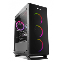 Caixa MidiTower NOX Hummer TGF RGB Sides/Front/Top Glass