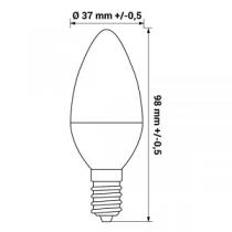Lâmpada LED ORO E14 6W 470lm 4000K