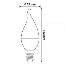 Lâmpada LED ORO Flame E14 6W 470lm 3000K