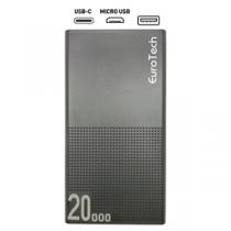 EUROTECH S3 Pro PowerBank 20.000mAh Quick Charge Type-C