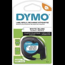 Fita Gravação DYMO 12mmX4m Plastic White