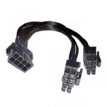 """Cabo Alimentação 8-Pin«»2x8-Pin PCI-E """"Black"""""""