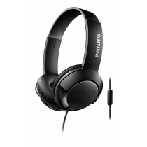 Headset PHILIPS BASS+ Wired on-ear Headphones+Mic Black