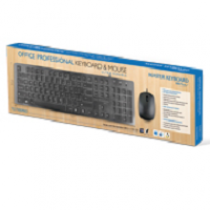 Kit MKPLUS OFFICE Professional USB (Teclado + Rato) Black