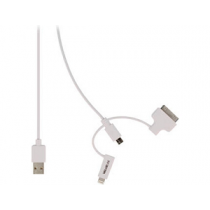 Cabo USB2.0 (A«»Micro-B+Lightning+Apple 30Pin)