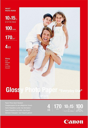 Papel CANON Glossy Photo 10x15 100Fls 170gr GP-501