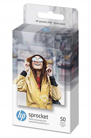 Papel HP Sprocket Photo Paper ZINK Sticky-Backed 50 Folhas