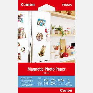 Papel CANON MG-101 Magnetic Photo 10x15 670gr 5Fls