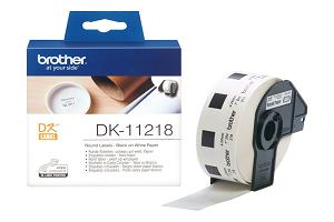 Etiquetas BROTHER Circular 24mm 1000unidades DK-11218